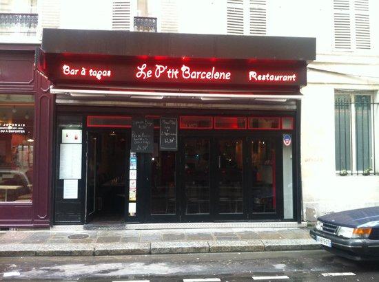 Le P'tit Barcelone : façade
