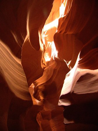Antelope Canyon Tours by Roger Ekis: View from inside the canyon
