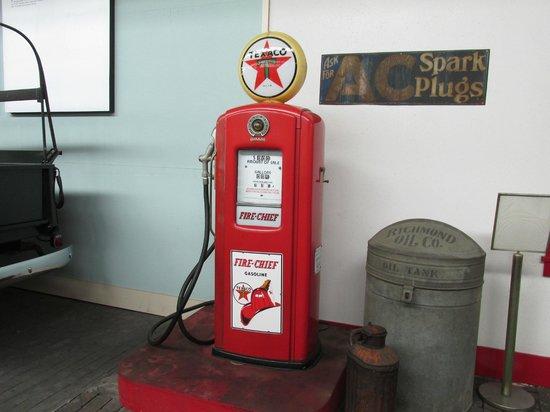 North Carolina Transportation Museum: gas pump
