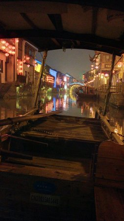 Suzhou Ancient Grand Canal: Canal at Night