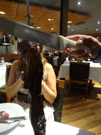 Fogo De Chao: Service of meat cutters