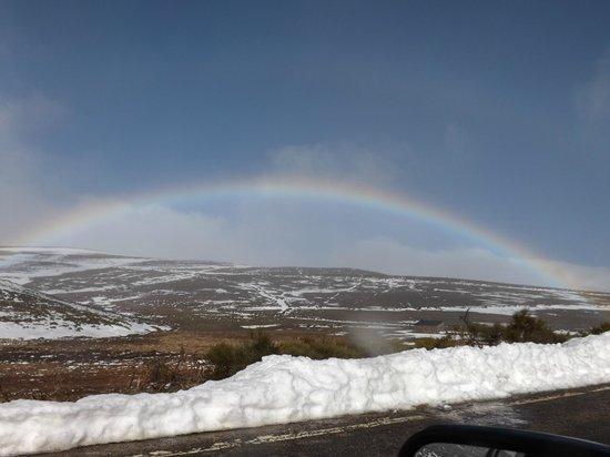 Parque Natural Lago de Sanabria: arco iris a la subida