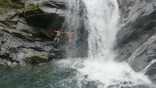 """Bocawina Rainforest Resort & Adventures: Waterfall on the """"expedition hike"""""""