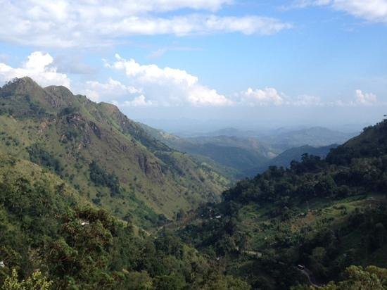 The Mountain Heavens: the view down the gap, little adams peak on left