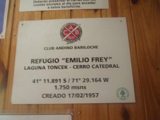 Refugio Frey : Refugio Emilio Frey