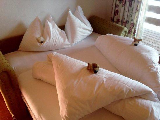 Hotel Petersboden: Creative bed-making
