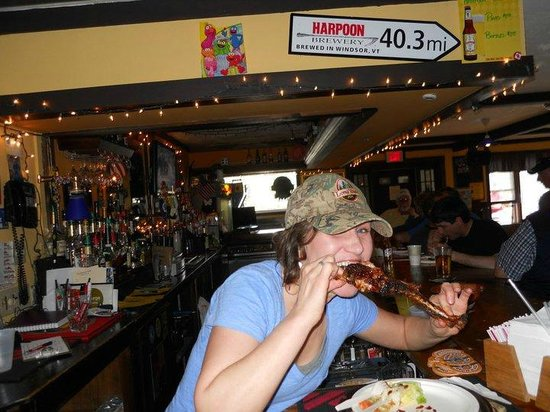 Clear River Tavern : Pam enjoying a little snack!