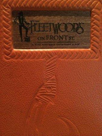 Fleetwood's on Front St. : Fleetwood's menu
