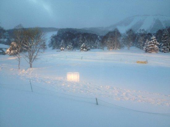 Shiga Kogen Prince Hotel: View of snowfall late afternoon