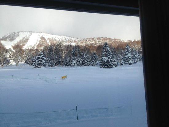 Shiga Kogen Prince Hotel: View from dining room showing main ski runs
