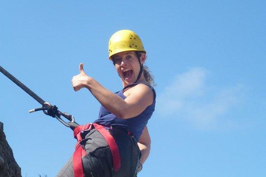 High 'n Wild Mountain Adventures : Marisa getting into it