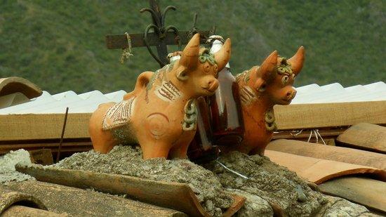 K'uychi Punku Hostal : Peruvian toritos on roof