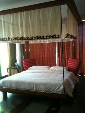 Villa Zolitude Resort and Spa : Daybed in downstairs room