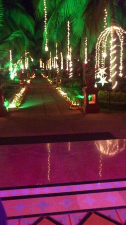The LaLiT Golf & Spa Resort Goa: Portugese Garden at night