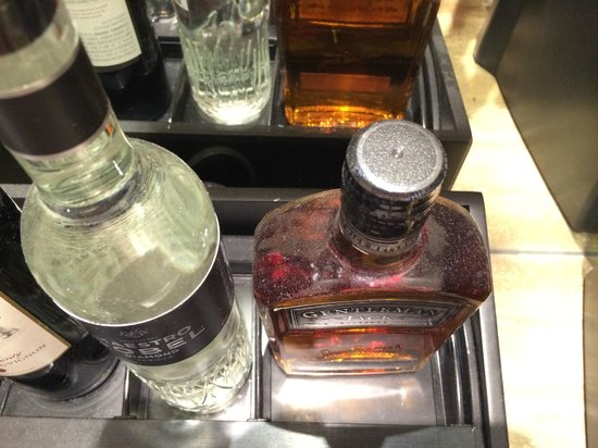 Hard Rock Hotel Palm Springs: Minibar has a thick layer of dust - would you drink this?