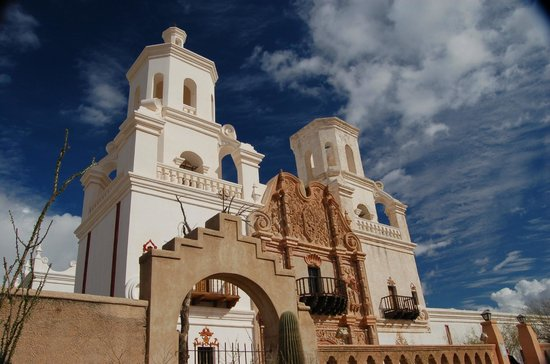 Mission San Xavier del Bac: Front view San Xavier Mission
