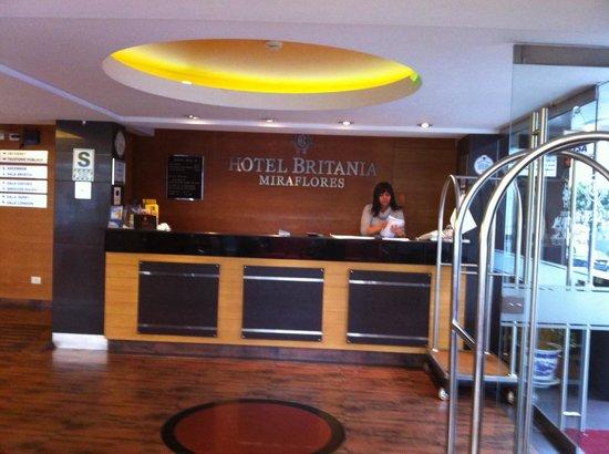 Hotel Britania Miraflores : Recepción Hotel Britania
