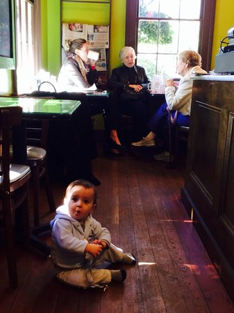 Cream & Sugar Cafe: This little coffee shop appeals to all ages. The hard wood floors are original to the house whic
