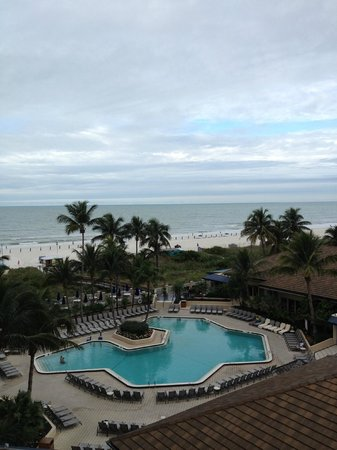 Hilton Marco Island Beach Resort--CLOSED FOR RENOVATIONS; REOPENING DEC. 1, 2017: view from room over looking pool