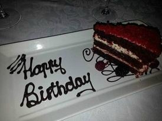African Pride Mount Grace Country House & Spa: surprise birthday cake at Rambling Vine Restaurant