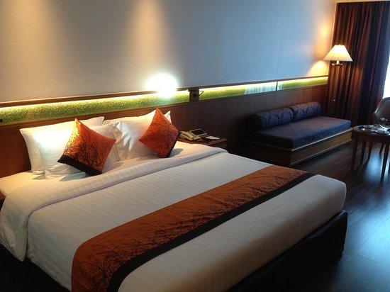 Bangkok Hotel Lotus Sukhumvit: 房間非常舒適,床也很舒服!