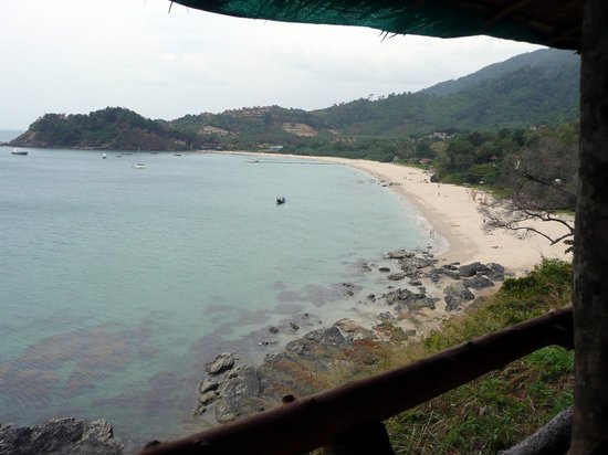 Kantiang Bay : from cafe on cliffs at southern end