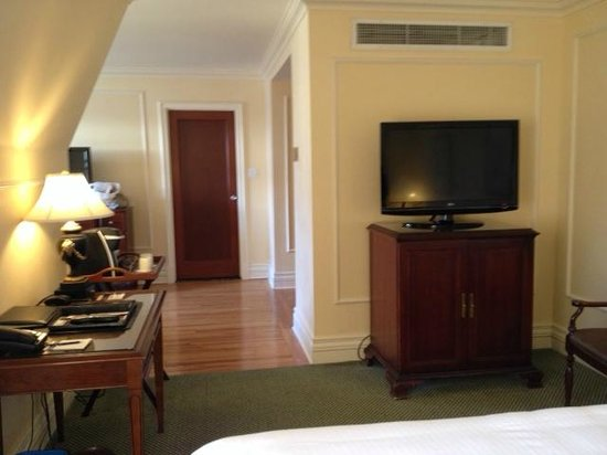 The Fairmont Empress: Superior Suite (view from bedroom)