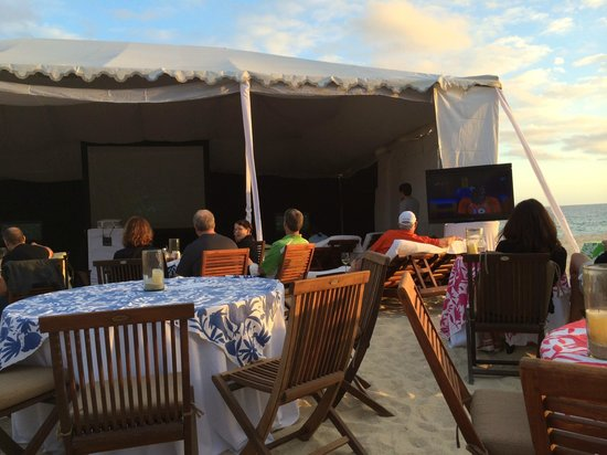 Las Ventanas al Paraiso, A Rosewood Resort: Super bowl tent set up