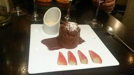 Café Sud : Dessert fondant au chocolat