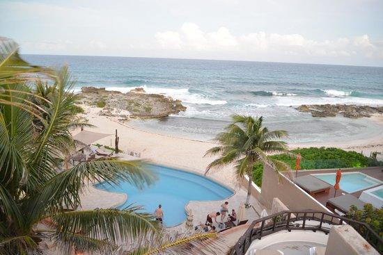 Playa La Media Luna Hotel: A view from the top floor Jacuzzi Suite.