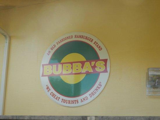 Bubba's: true story