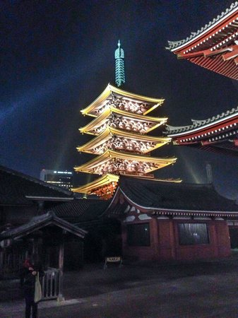 Asakusa  Pagoda by night