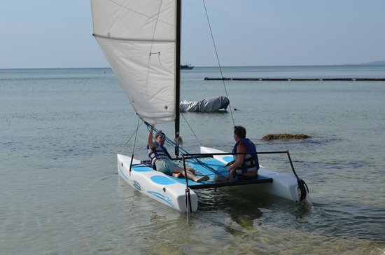 Chen Sea Resort & Spa Phu Quoc : me and son sailing