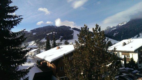 Hotel Alpine Lodge Gstaad - Saanen: Aussicht vom Balkon