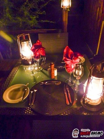Idube Game Reserve Lodge : Private Dinner on our Terrace