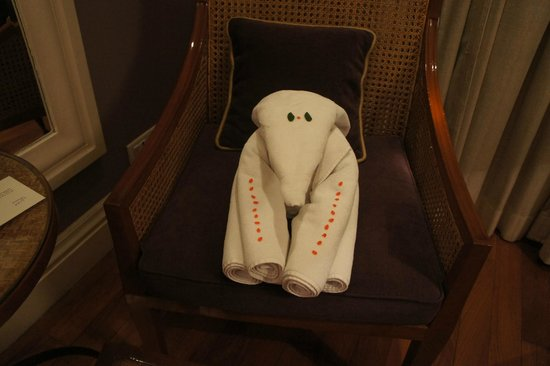 The Taj West End: towel elephant