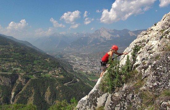 Klettersteig Ferrata : Toller klettersteig absolut familienfreundlich via ferrata nax