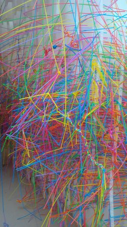 Royal Academy of Arts: Straw tunnel detail