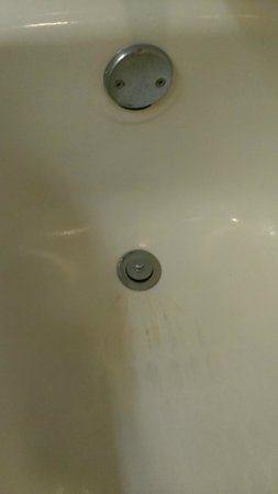 Embassy Suites by Hilton Atlanta - Airport: Tub has some odd stain near the drain.