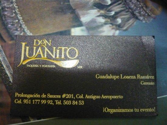 Don Juanito Taqueria y Pozoleria : Don Juanito