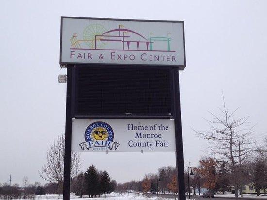 Monroe County Fair and Expo Center: Front sign for Fair & Expo Center