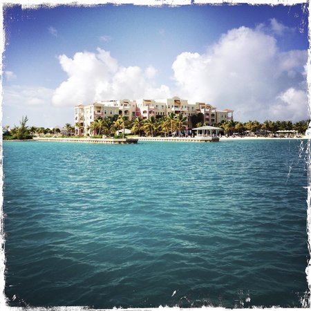 Blue Haven Resort: The Resort viewed from a boat