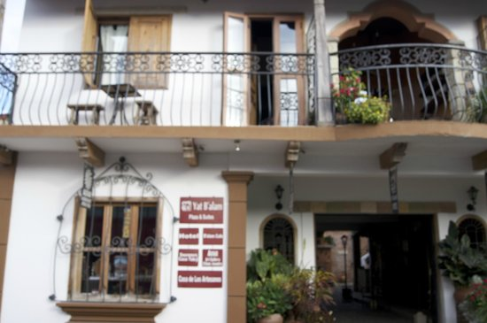 A view of the front of Yat B'alam Boutique Hotel
