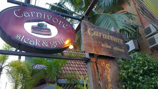 Carnivore Steak and Grill : Sign board