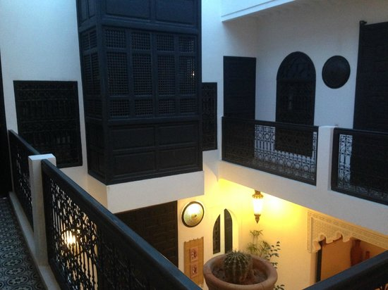 Riad Danka : Vue du patio depuis les chambres
