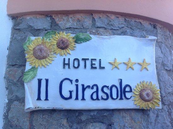 Hotel Il Girasole: Красивая табличка