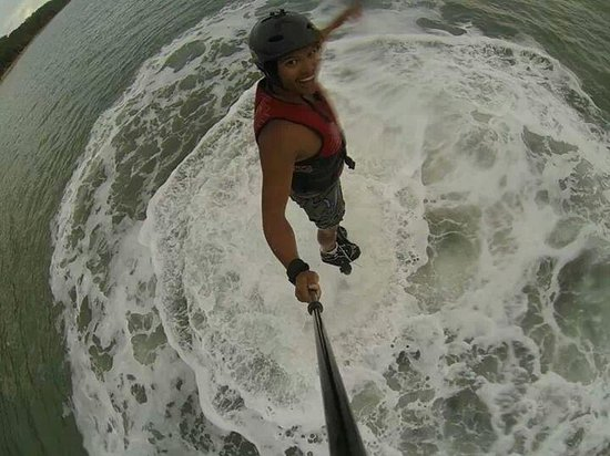 Flyboard Cairns: gopro mounted in a pole tied to my wrist. use at your own risk!