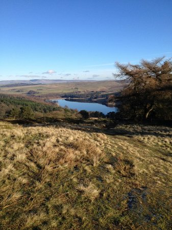 Looking over the reservoir in the Goyt Valley