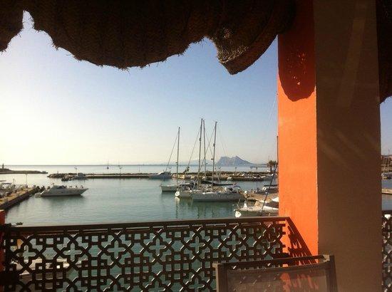 Club Maritimo de Sotogrande: Vista desde la terraza del comedor