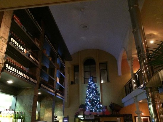 Mustard Seed Restaurant : View to Festive Lights, High Vaulted Ceiling